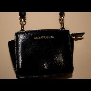 Selma Patent Mini Messenger Bag